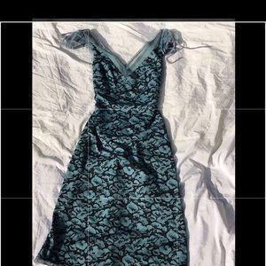 Betsey Johnson 90's Vintage Style Teal/Black Dress